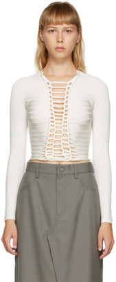 Dion Lee White Central Braid Top
