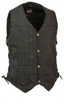 Milwaukee Leather Men's 10 Pocket Side Lace Denim Vest (, 2X)