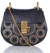Chloé Hudson Mini Fringe Brown Shoulder Bag