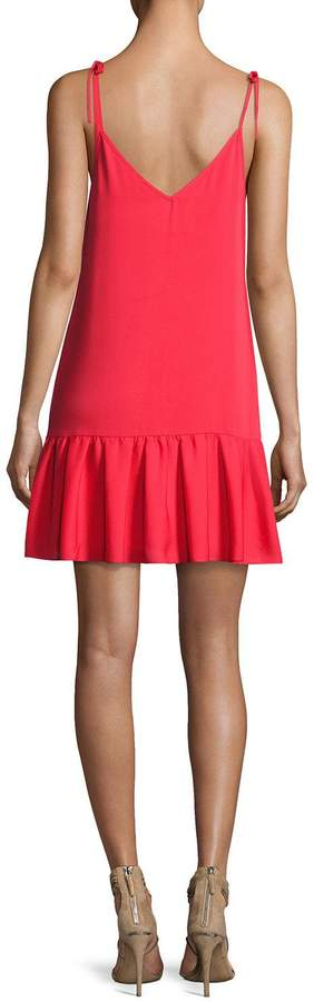 Amanda Uprichard Odessa Sleeveless V-Neck Shift Dress, Pink