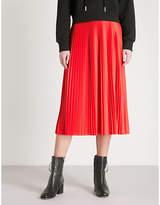 Mo&Co. Pleated satin skirt