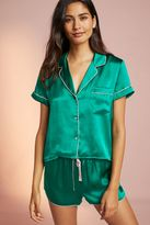 Anthropologie Embroidered Silk Pyjama Top