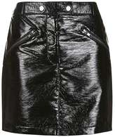 Topshop Black vinyl mini skirt