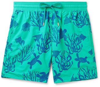 Vilebrequin Moorea Wide-Leg Mid-Length Wide-Leg Flocked Swim Shorts