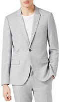 Topman Men's Skinny Fit Crosshatch Suit Jacket