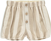 Rylee + Cru Stroped Full Shorts Ecru