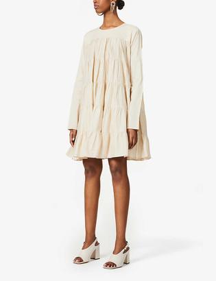 Merlette New York Soliman flared-hem cotton mini dress