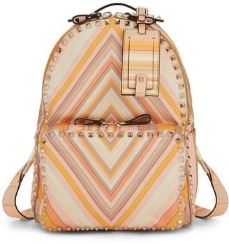 Valentino Garavani Medium Rockstud Geometric Backpack