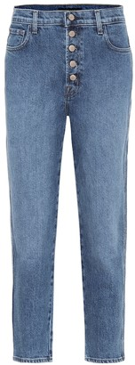 J Brand Heather high-rise straight jeans