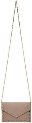 Valentino Pink Garavani Rockstud Wallet Chain Bag