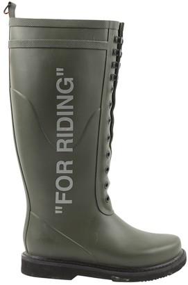 Off-White Khaki Rubber Boots