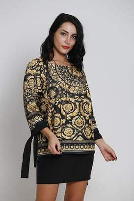 Pole & Pole Jacquard Printed Top