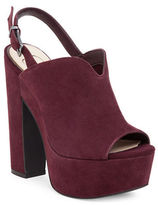 Jessica Simpson Rel Suede Slingback Platform Sandals