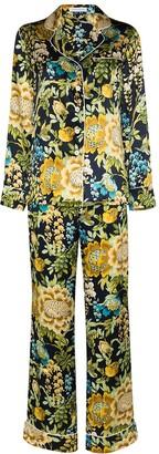 Olivia von Halle Lila floral-print silk pyjamas