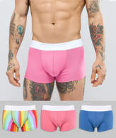Asos Hipsters With Rainbow Stripe Print 3 Pack