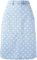 Diesel denim heart skirt