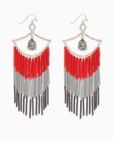 Charming charlie Ombre Chain Tassel Earrings