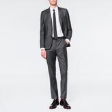 Paul Smith Men's Tailored-Fit Charcoal Grey Melange Wool Suit