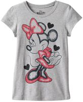 Disney's Minnie Mouse Girls 7-16 Glitter Graphic Tee