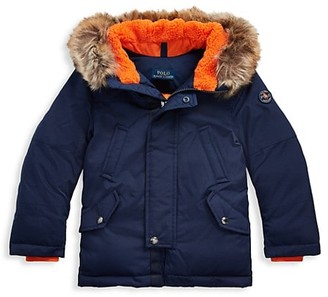 Ralph Lauren Little Boy's & Boy's Water-Resistant Faux-Fur Hooded Down Parka