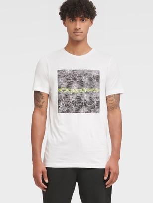 DKNY Men's Static Logo Tee - White - Size XS