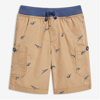 Joe Fresh Toddler Boys' Print Rib Waist Shorts, Khaki Brown (Size 5)