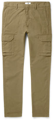 NN07 Slim-Fit Tapered Garment-Dyed Cotton-Blend Twill Cargo Trousers
