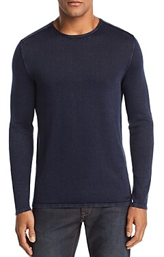 John Varvatos Acid-Wash Crewneck Sweater