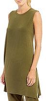 Eileen Fisher Round Neck Sleeveless Tunic
