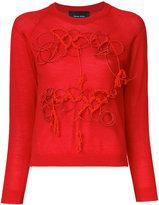 Simone Rocha embroidered sweatshirt - women - Silk/Cashmere/Merino - XS