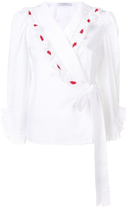 VIVETTA Casal Di Principe wrap blouse