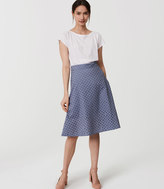 LOFT Eyelet Midi Skirt