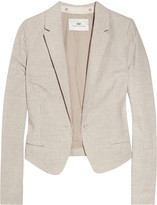South Africa linen and cotton-blend cropped blazer