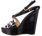 Giuseppe Zanotti Patent Leather Wedge Sandals