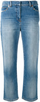 Valentino Rockstud cropped jeans - women - Cotton/Polyester/Spandex/Elastane - 28