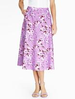 Talbots Spring Blossoms Full Skirt