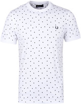 Fred Perry White Shadow Polka Dot T-shirt