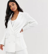 Asos EDITION Petite double breasted wedding jacket