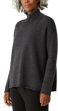 Eileen Fisher Wool Funnel Neck Sweater