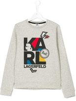 Karl Lagerfeld logo print sweatshirt