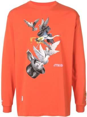 Heron Preston orange birds top