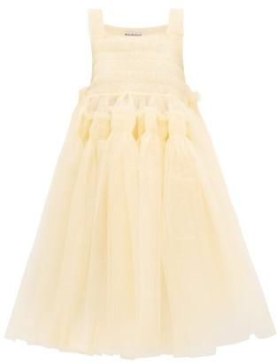 Molly Goddard Jamila Hand-smocked Tulle Dress - Cream