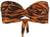 Thumbnail for your product : Norma Kamali Exclusive to Mytheresa a Johnny D tiger-print bandeau bikini top
