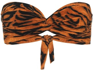 Norma Kamali Exclusive to Mytheresa a Johnny D tiger-print bandeau bikini top