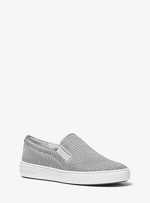 Michael Kors Keaton Chain-Mesh Slip-On Sneaker
