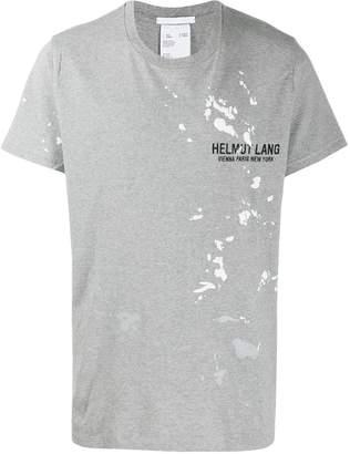 Helmut Lang paint-splatter logo T-shirt