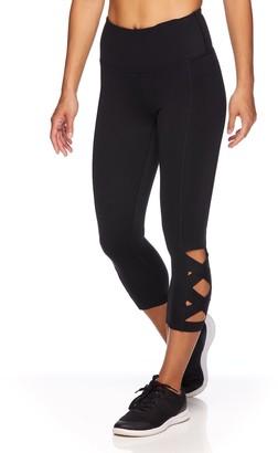 Gaiam Women's Om Lotus High-Waisted Capri Leggings
