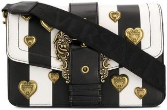 Versace Striped Embellished Shoulder Bag