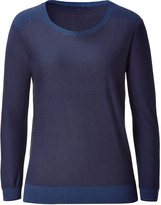 Theyskens' Theory Theyskens Theory Night blue and navy 3/4-sleeve sweater