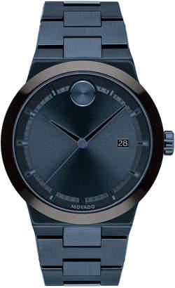 Movado Men's 42.3mm BOLD Fusion Bracelet Watch, Blue